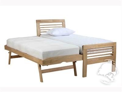 Ecofurn Ridgeway Guest Bed 3 Single Light Oak Stowaway Bed
