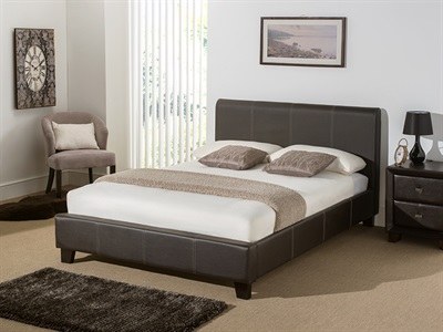 Snuggle Beds Remy Leather (Brown) 5 King Size Brown Bed Frame Only Leather Bed