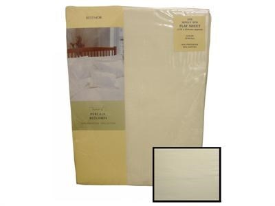Texmore Restmor Flat Sheet Ivory 3 Single Linen