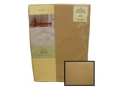 Texmore Restmor Flat Sheet Taupe 4 6 Double Linen
