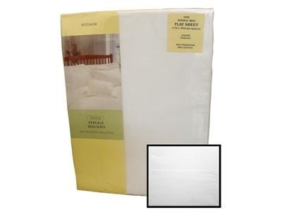 Texmore Restmor Flat Sheet White 3' Single Linen