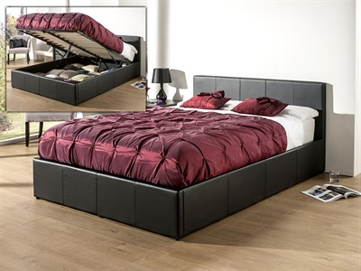 Snuggle Beds Roma (Black) 3 Single Black Ottoman Bed