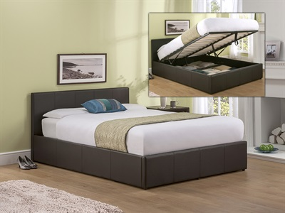 Snuggle Beds Roma (Brown) 3 Single Brown Ottoman Bed