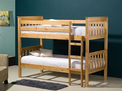 Birlea Seattle Bunk 3 Single Natural Bunk Bed