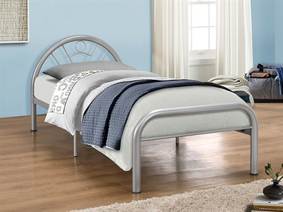 Birlea Solo 3 Single Silver Slatted Bedstead Metal Bed