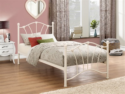Birlea Sophia Cream 3 Single Cream Metal Bed