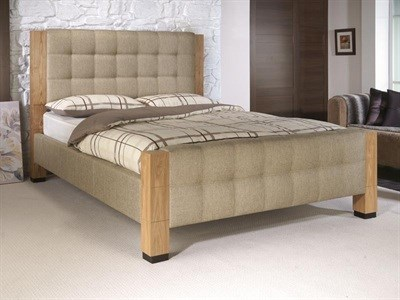 Limelight Saturn 4 6 Double Oatmeal Fabric Bed
