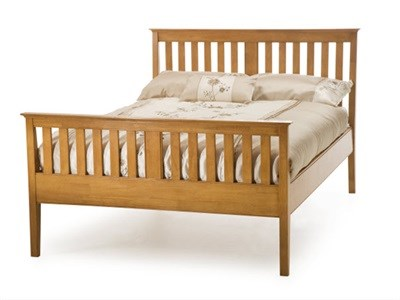 Serene Furnishings Grace Cherry High Footend 3 Single Cherry Wooden Bed