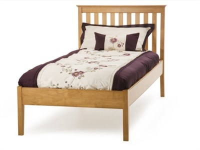 Serene Furnishings Grace Cherry Low Footend 3 Single Cherry Wooden Bed