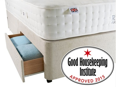 Rest Assured Sprung Edge Divan Base Only - Sandstone 6 Super King Sandstone Sprung Edge - No Drawers Base Only