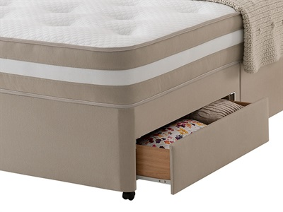 Silentnight Platform Top Base Only - Sandstone 3 Single Sandstone Platform Top - 2 Drawers Base Only