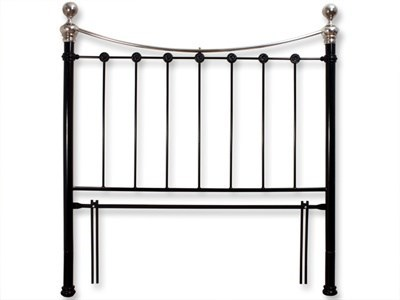 Original Bedstead Co Selkirk Headboard only 3 Single Glossy Ivory Metal Headboard