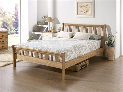 Home Comfort Sherwood 4 6 Double Natural Wooden Bed