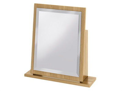 Furniture Express Sherwood Small Mirror Modern Oak Assembled Mirror