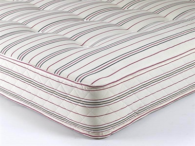 Shire Beds Red Oxford Stripe 5' King Size Mattress