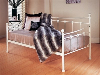 Limelight Sirus Day Bed 3 Single Ivory Metal Bed