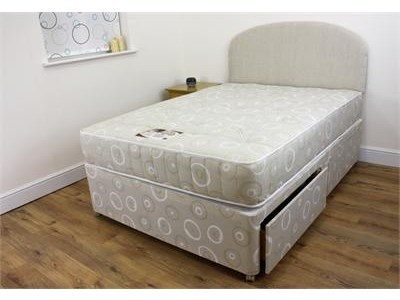 Snuggle Beds Snuggle Tuft Divan Set 4 6 Double Platform Top - 4 Drawers Divan