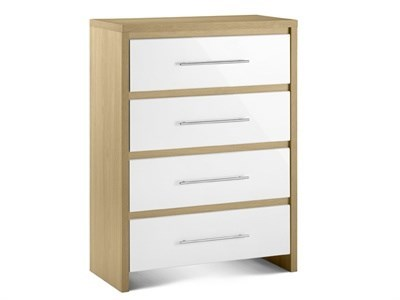 Julian Bowen Stockholm 4 Drawer Chest Drawer Chest
