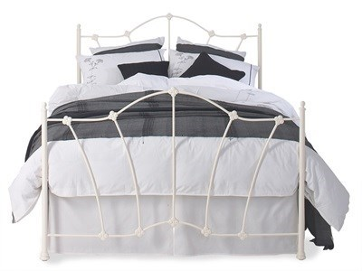 Original Bedstead Co Thorpe Headboard 3 Single Glossy Ivory Headboard Only Metal Headboard