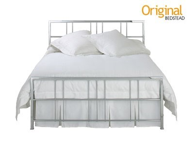 Original Bedstead Co Tain 4 6 Double Chrome Slatted Bedstead Metal Bed