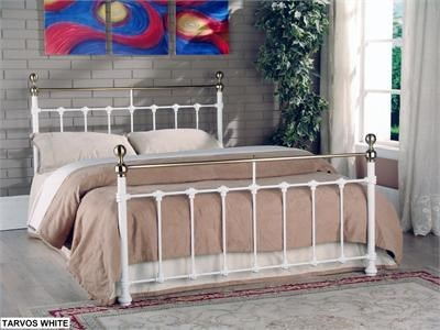 Limelight Tarvos 4 6 Double White Metal Bed