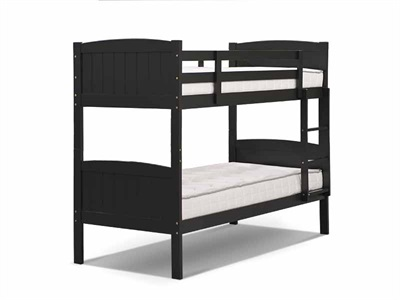 Snuggle Beds Taylor Bunk Black 3 Single Bunk Bed