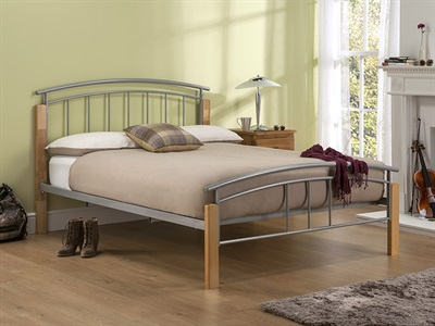Snuggle Beds Tetras in Beech 4 6 Double Metal Bed