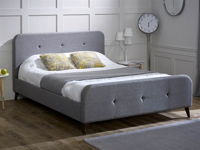 Limelight Tucana Grey 4 6 Double Ash Grey Fabric Bed