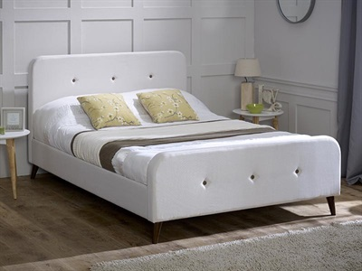 Limelight Tucana Ecru 4 6 Double Ecru Cream Fabric Bed