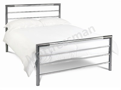 Bentley Designs Urban 4 Small Double Nickel And Chrome Slatted Bedstead Metal Bed
