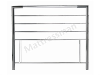 Bentley Designs Urban  3 Single Nickel And Chrome Metal Headboard