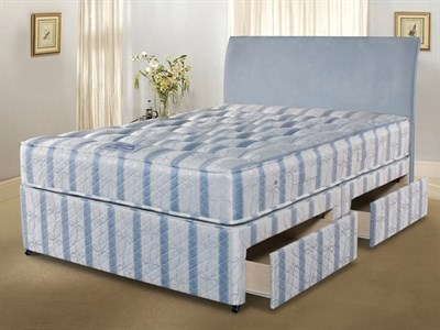 Simmons Bedding Group Nestledown Ultimate Backcare  4 6 Double Platform Top - 2 Drawers Divan