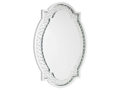 Product photograph showing Valentina Oval Mirror