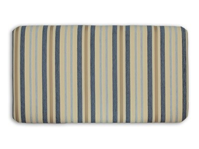 New Design Venus - Blue Stripe 2 6 Small Single Blue Stripe Fabric Headboard