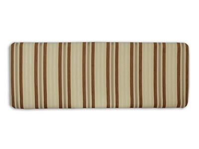 New Design Venus - Tan 2 6 Small Single Tan Stripe Fabric Headboard