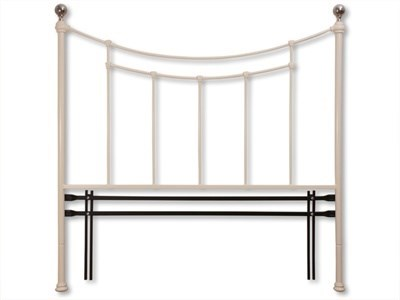 Original Bedstead Co Virginia Headboard 3 Single Satin White Headboard Only Metal Headboard