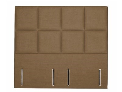 Hypnos Victoria - Euro Slim 4 6 Double Imperio Biscuit Headboard Only Fabric Headboard
