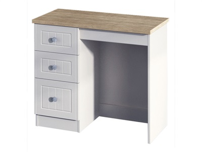 Furniture Express Vienna 3 Drawer Vanity Bordeaux Oak with Kaschmir Ash Table Only Dressing Table