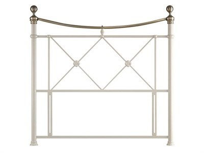 Balmoral Virginia 4 6 Double Cream Metal Headboard