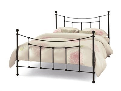 Serene Furnishings Virginia Black 5 King Size Glossy Black Metal Bed
