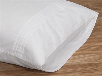 Elainer Moda De Casa Cotton Sateen Pleated Pillow case Pair Champagne Pair Pillow Case