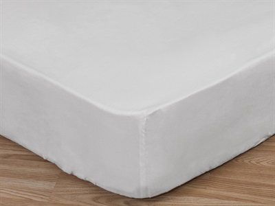 Elainer Cotton Sateen Fitted Sheet, Deep 3 Single White Linen
