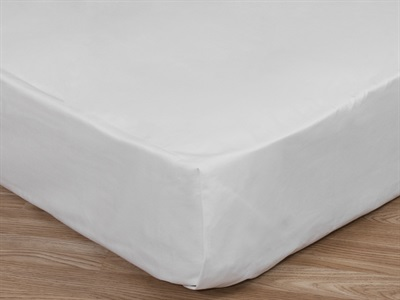 Elainer Percale Flat Sheet 430 Thread Count 3 Single White Linen