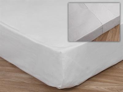 Elainer Poly/Cotton Flat Sheet, Open Stitch 3 Single White Linen