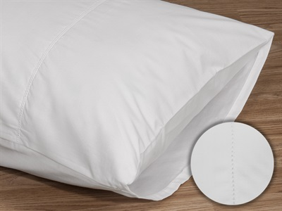 Elainer Poly/Cotton Pillow Case Pair, Open Stitch White Pair Pillow Case