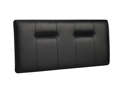 New Design Zodiac Leather 4 Small Double Black Faux Leather Leather Headboard