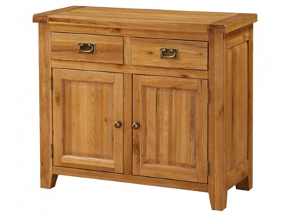 Product photograph showing Acorn Solid Oak Sideboard Small 2 Doors And 2 Drawers