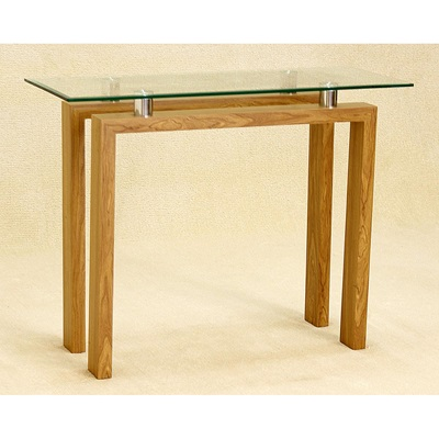 Product photograph showing Adina Console Table Oak