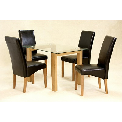 Product photograph showing Adina Dining Table Small Oak