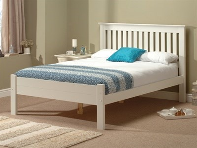 Snuggle Beds Alder White 3 Single White Wooden Bed